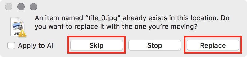 Figure #2: Copy options