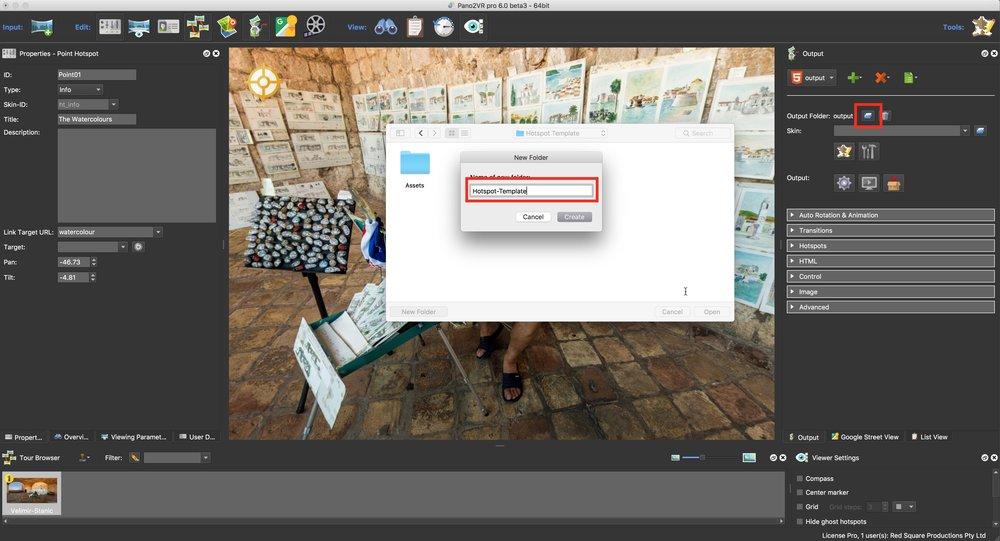 Figure #12: Create the Output Folder