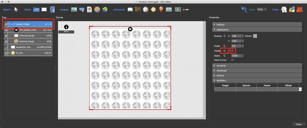 Figure #2: popup_image Properties > Appearance