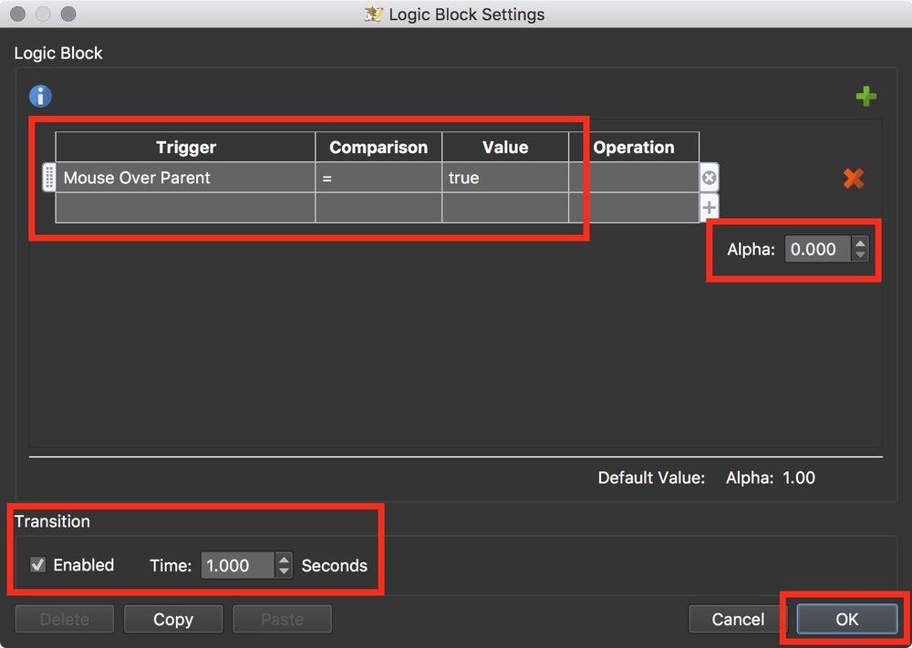 Figure #41 Logic Block to hide the ht_info_reveal button