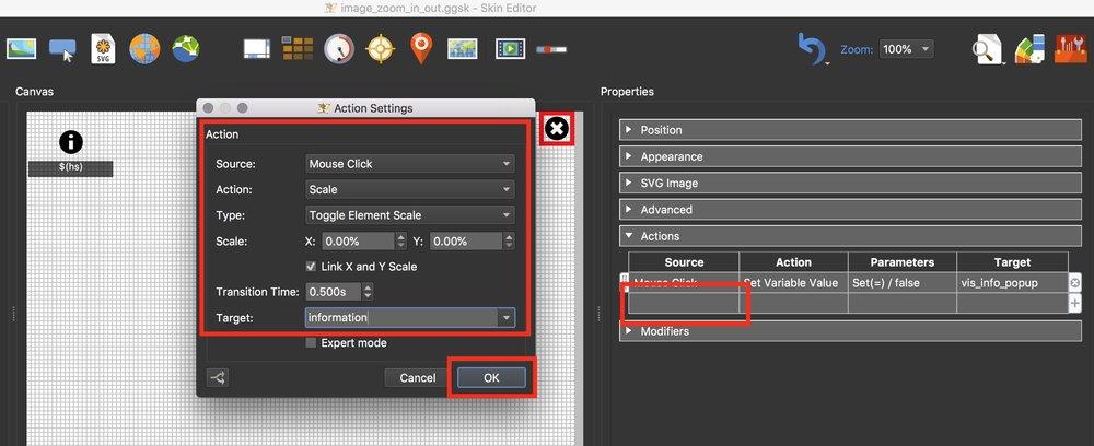 Figure #22 Set new info_popup_close action