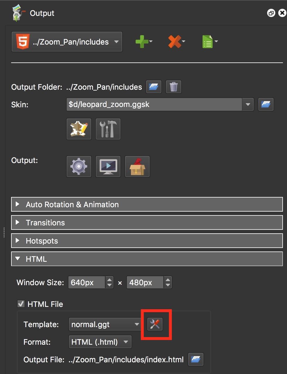 Figure #14: Edit Template button