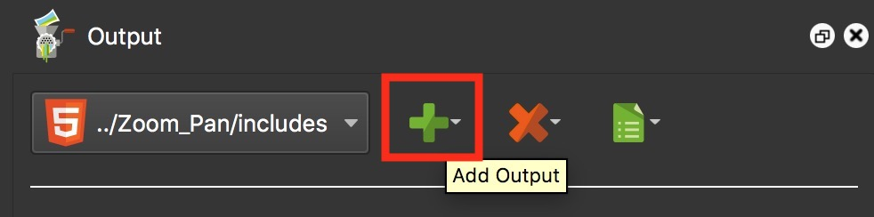 Figure #16: Add Output button