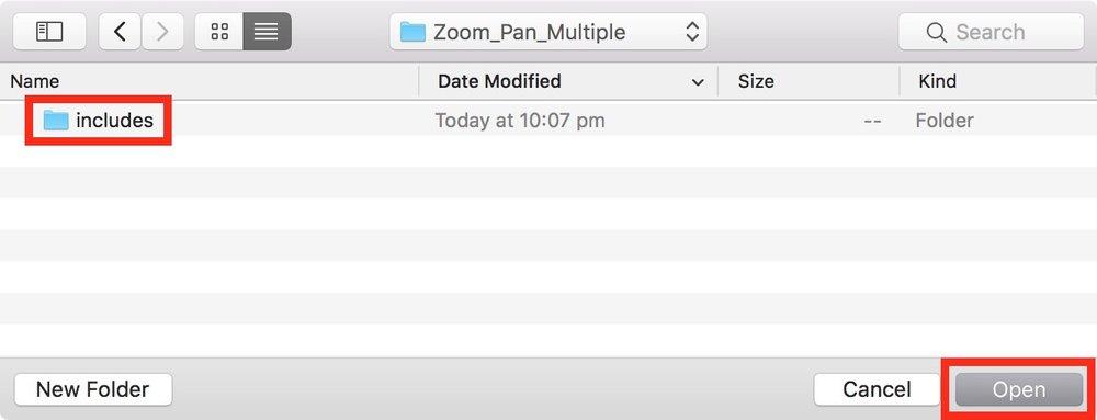 Figure #20: open the 'includes' folder