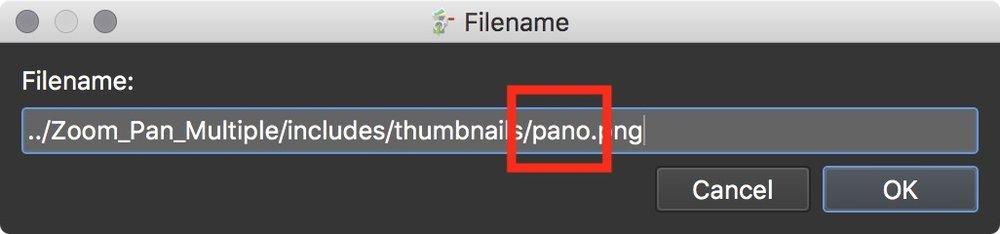 Figure #26: default filename