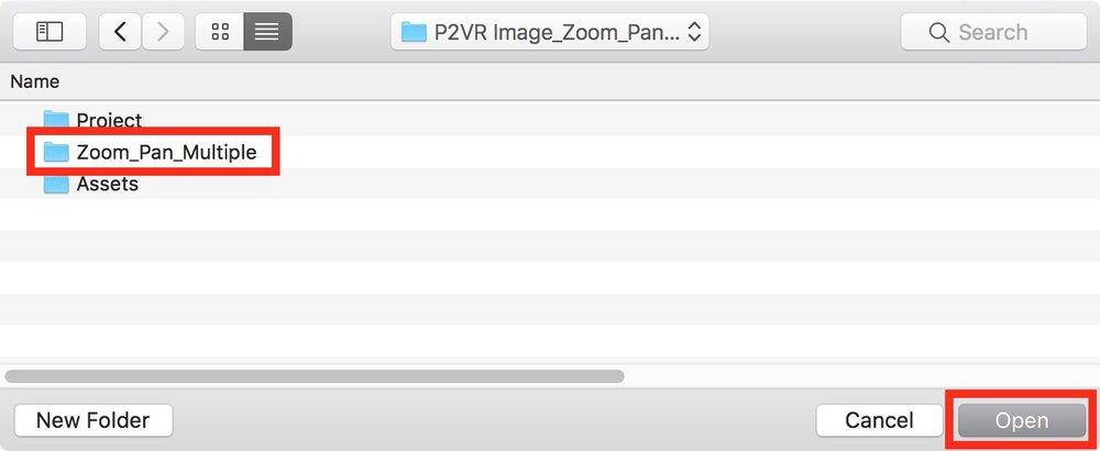 Figure #32: Open the 'Zoom_Pan_Multiple' folder