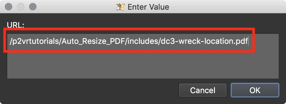 Figure #33: URL to the pdf file