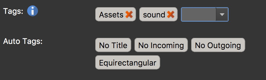 Figure #3: Sound tag created for node #2