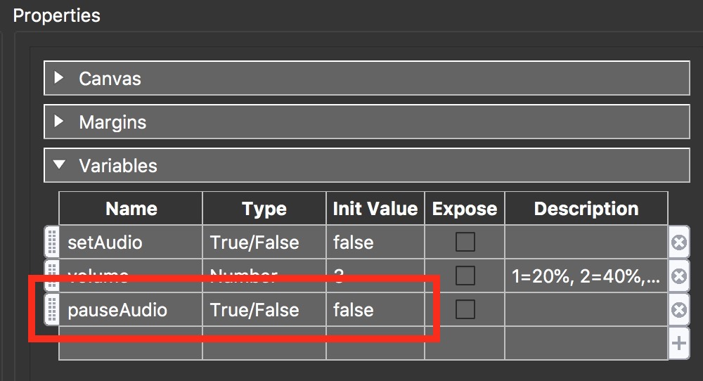 Figure #26: new 'pauseAudio' variable