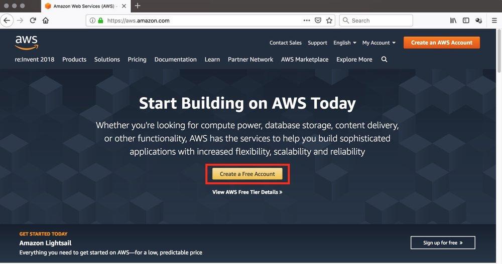 figure #1: Amazon S3 Homepage