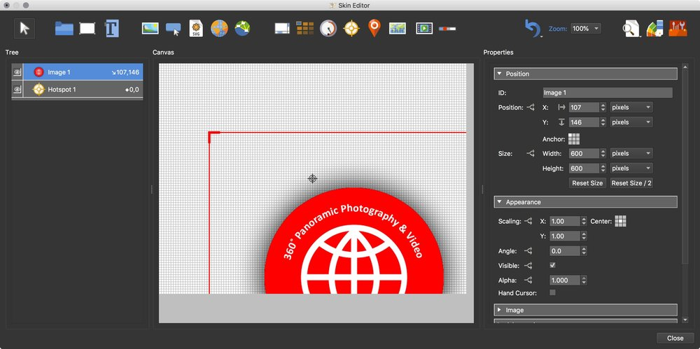 Figure #11: Logo in the canvas