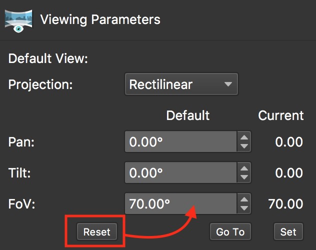 Figure 12: Set view back to default