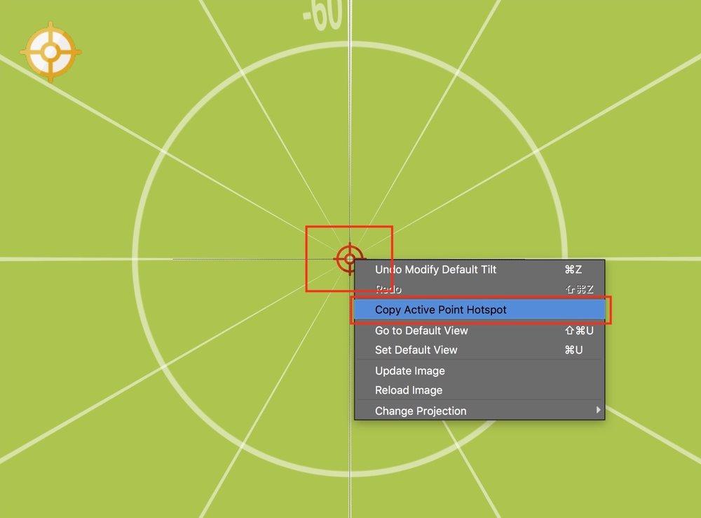 Figure #5: Copy the Active Point Hotspot