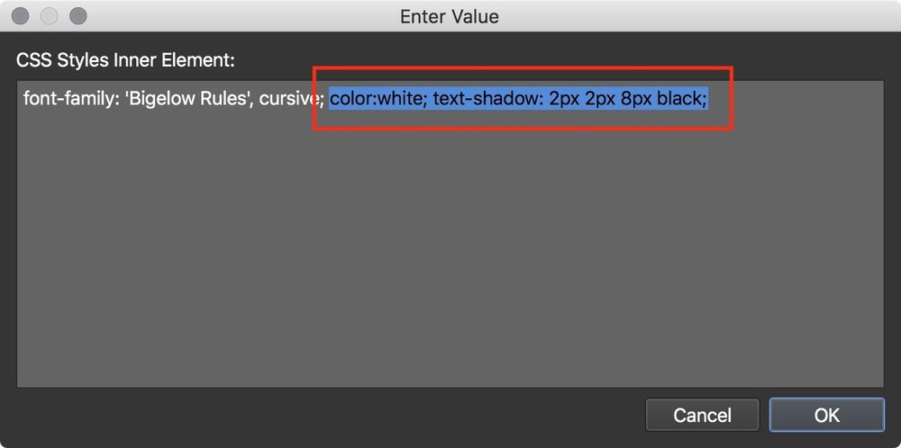 Figure #11: Color and Shadow CSS