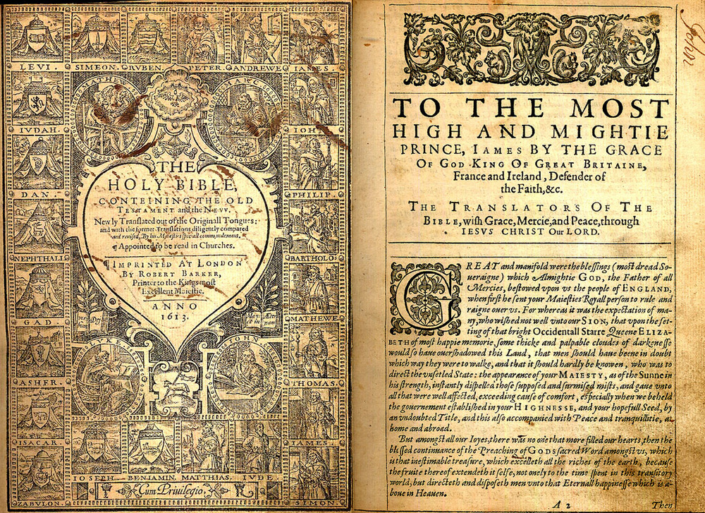 Kong James bibel fra 1612-1613.