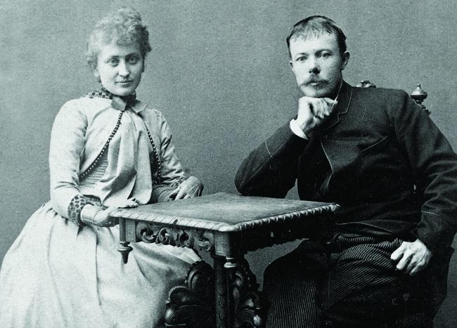 REFORMERTE SELSKAPSSPIRITISTER: Hulda og Arne Garborg var aktive spiritister på slutten av 1800-tallet, men tok senere avstand fra fenomenet.