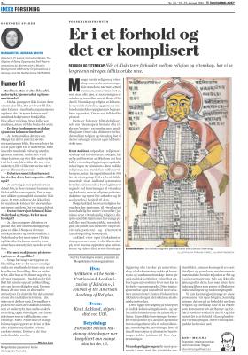 Dette er en revidert utgave av en spalte først publisert i Morgenbladet, 21/08/2014