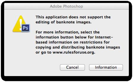 Adobe Counterfeit Error
