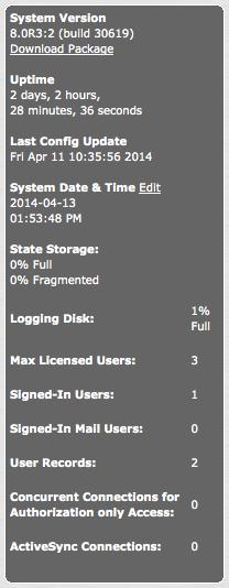 Max. 3 concurrent SSL VPN users