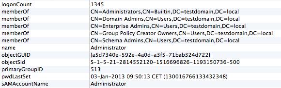 LDAP group memberships
