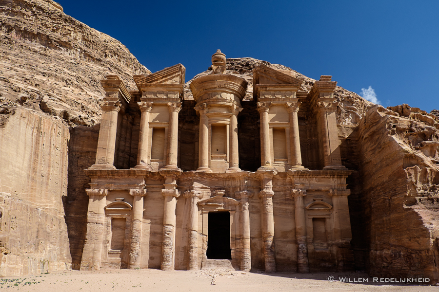 The Petra Monastery without tourists (no Photoshop required)