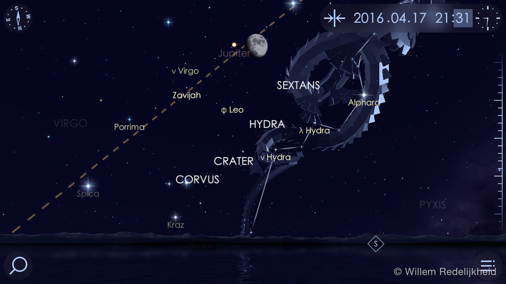 Star Walk - Moon and Jupiter reference