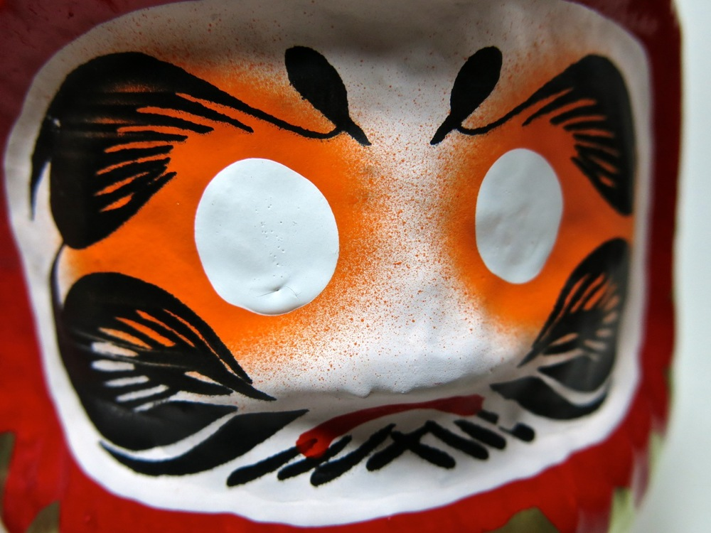 The  Daruma  doll: why does it come with no eyes?