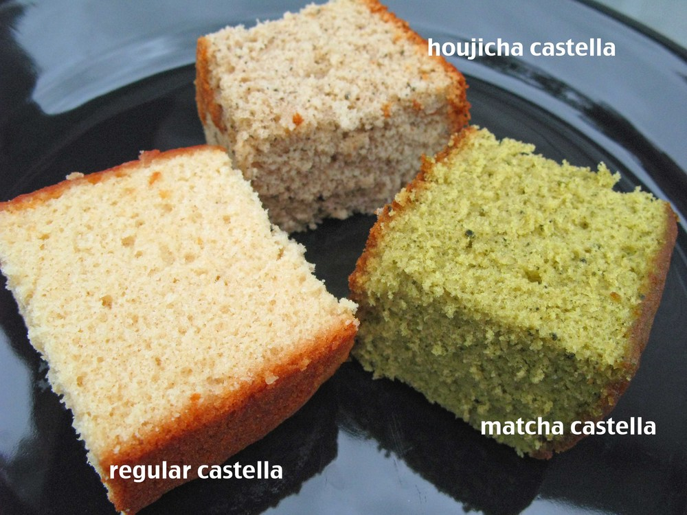 Yummy green tea castella recipe.