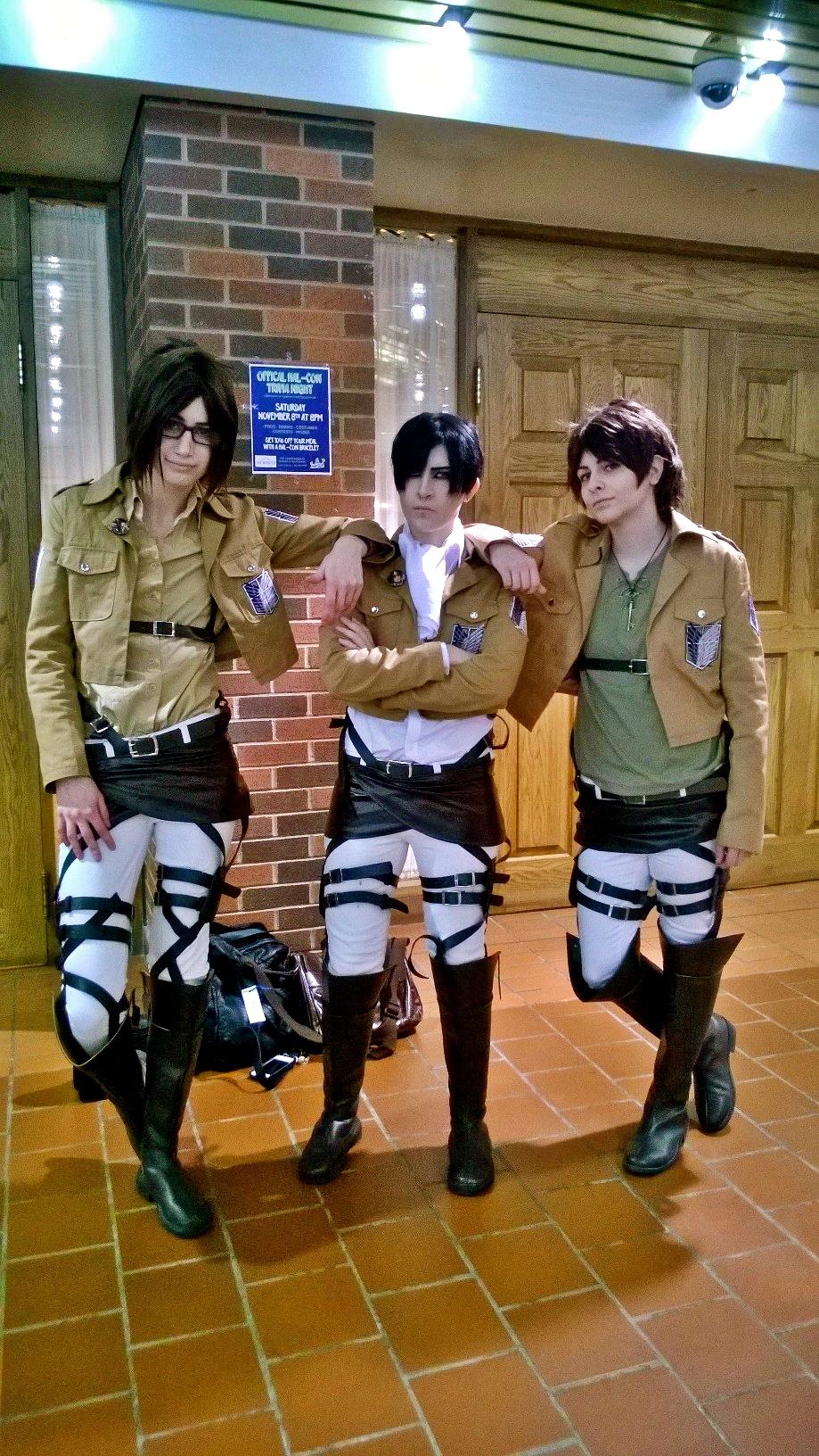 Hanji, Levi & Eren from Attack On Titan