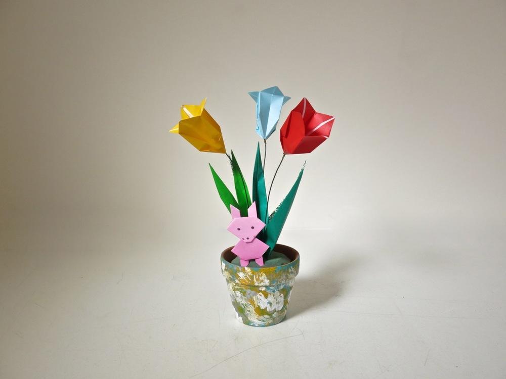 March break tulip origami workshop the ikebana shop march break tulip origami workshop mightylinksfo