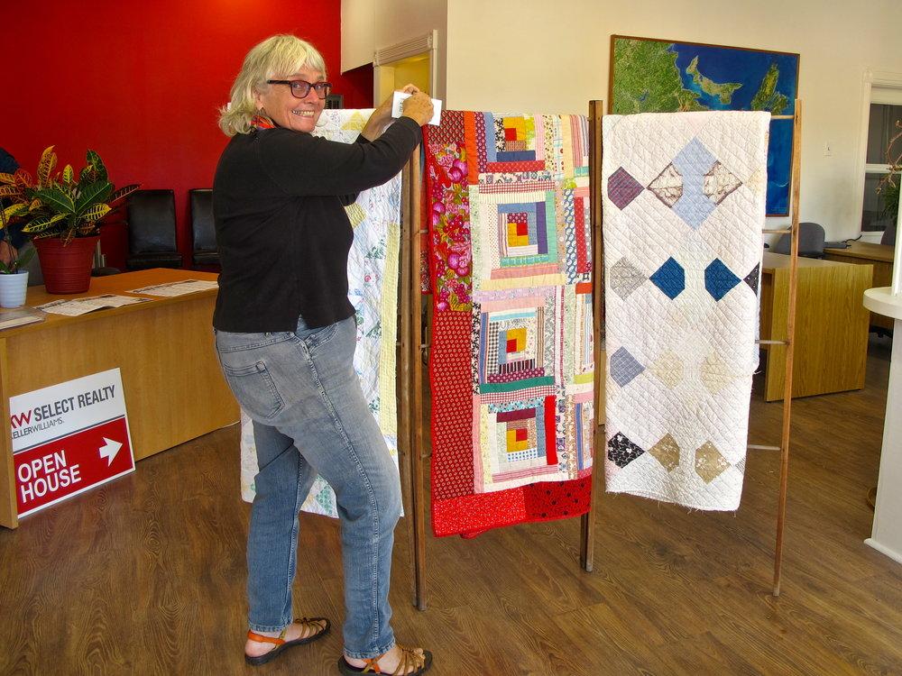 Phyllis Price (sashiko stitching)