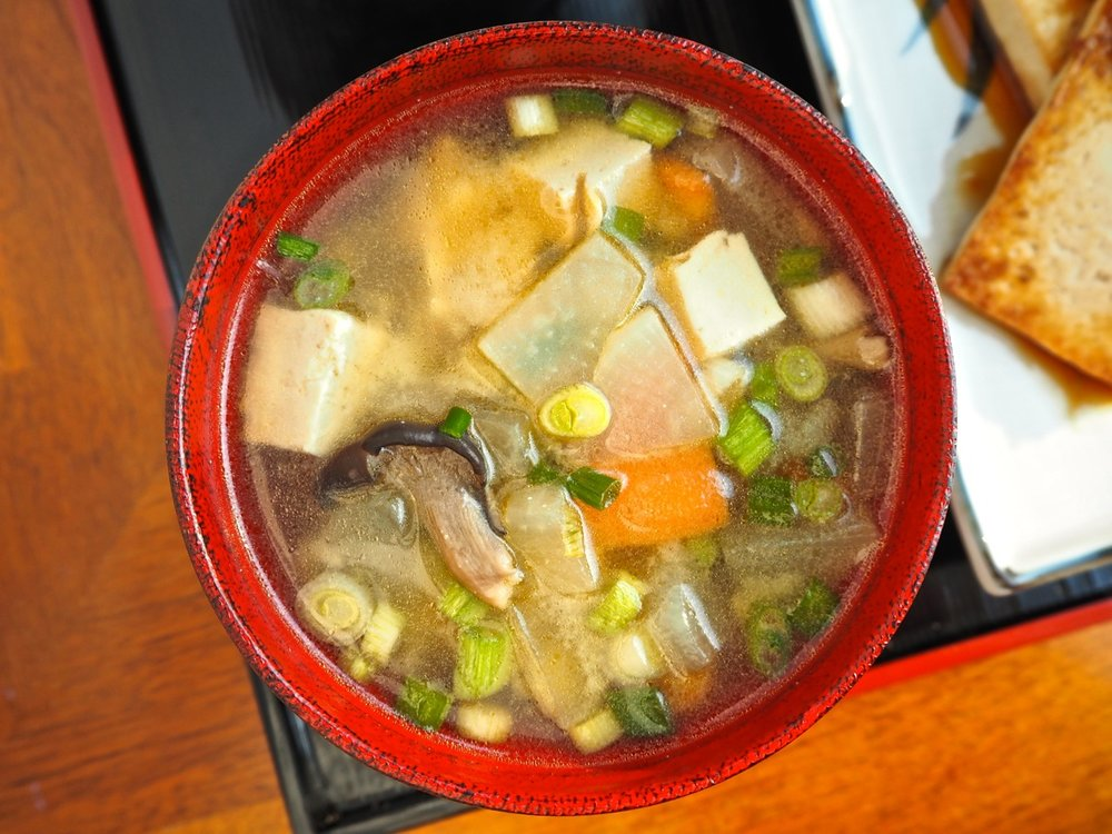 Kenchin-jiru けんちん汁, Miso-based soup with many yummy stuff inside!