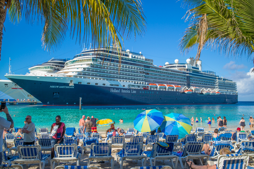 Nieuw Amsterdam Docked at Turks & Caicos