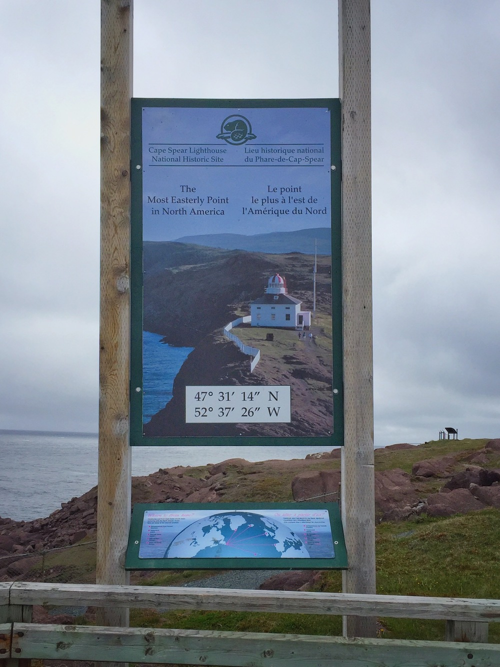Poster at Eastern-most point