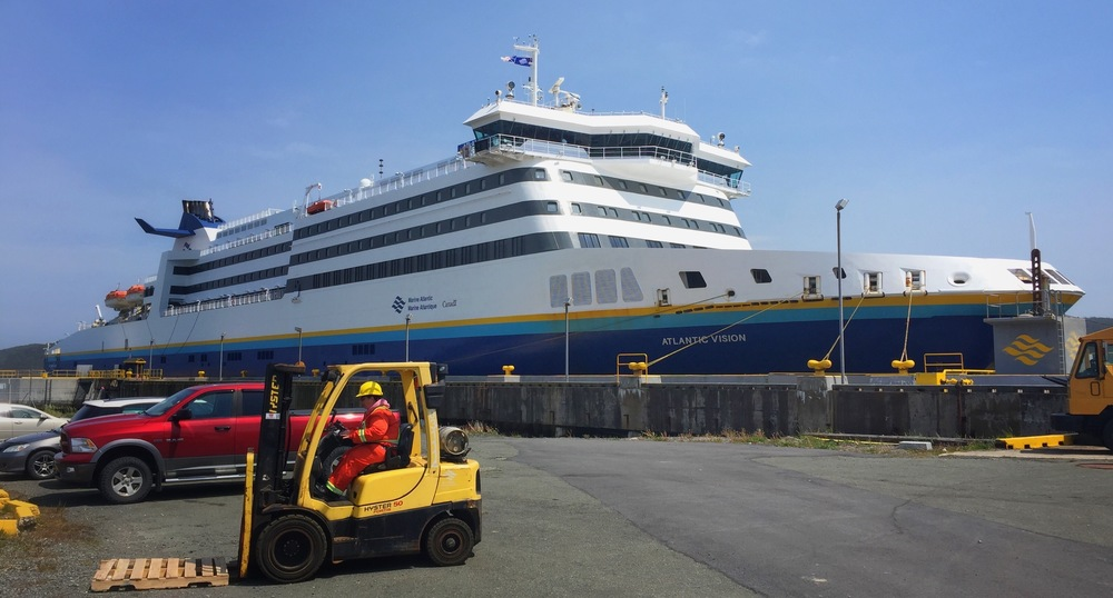 Ferry Atlantic Vision Docked in Argentia