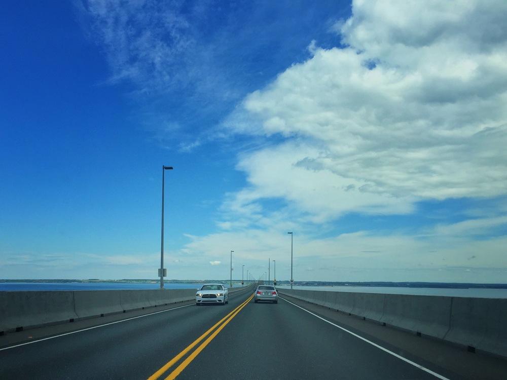 Crossing the Confederation Bridge into PEI