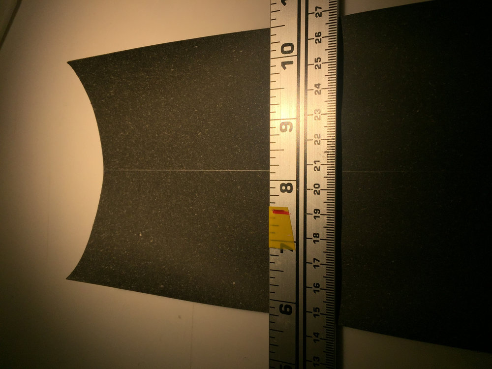 Measure width of Backing