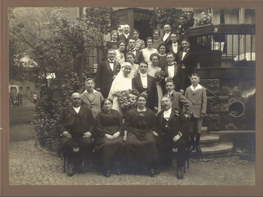 Grandparent's Wedding, Sonneberg Germany, 1922