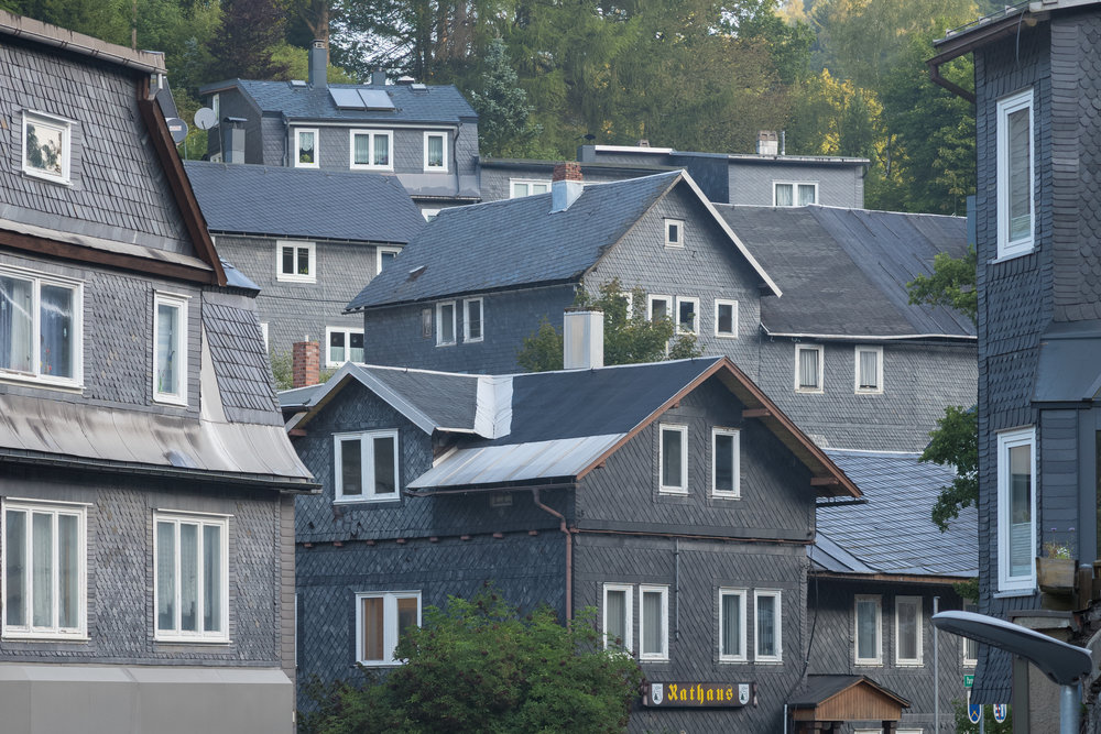 Lauscha, Germany: Example of traditional slate-clad houses