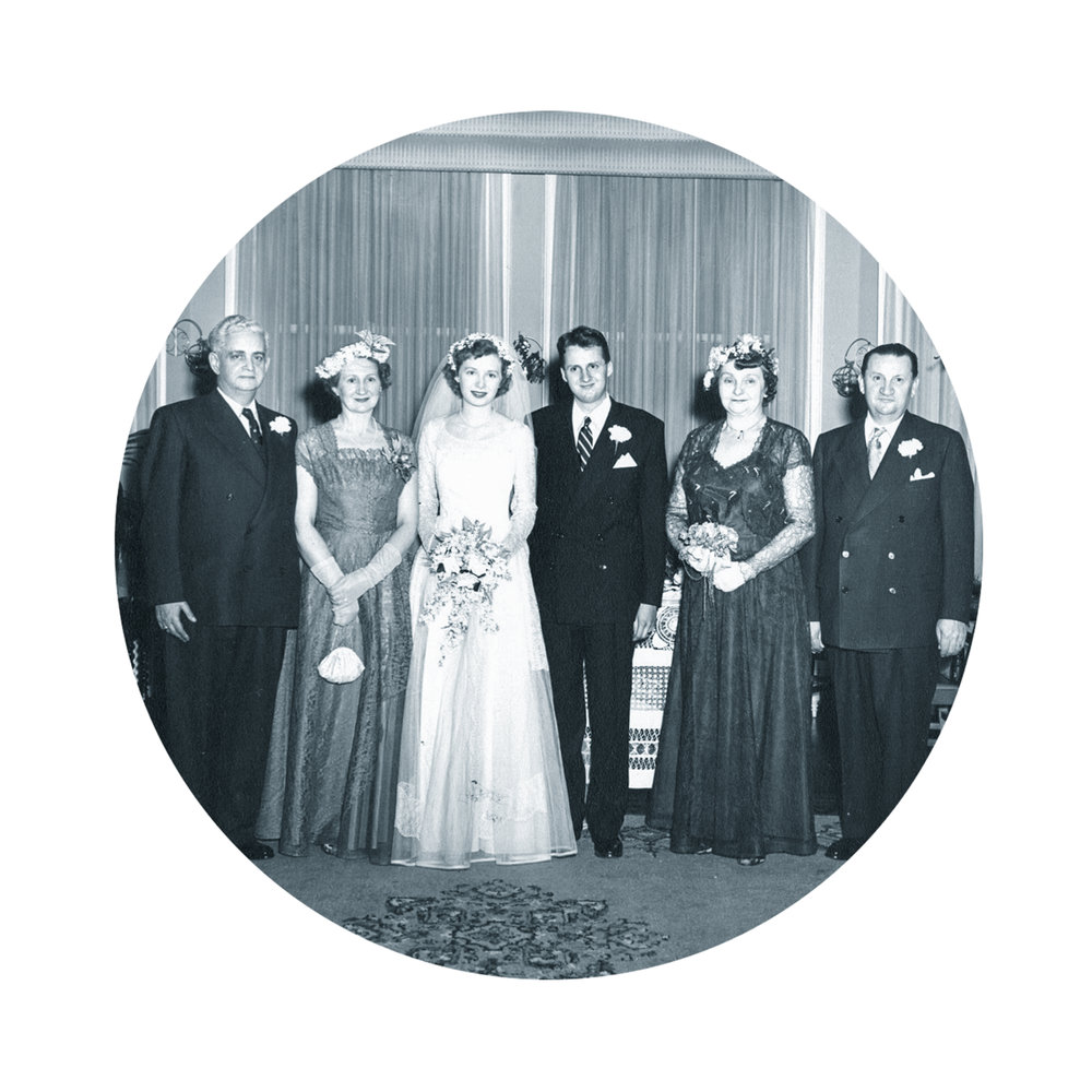 Parent's Wedding, Toronto, 1952