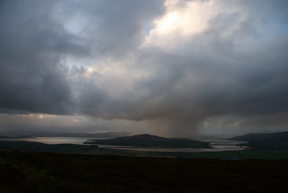 Inch Island Co. Donegal from Grianan of Aileach