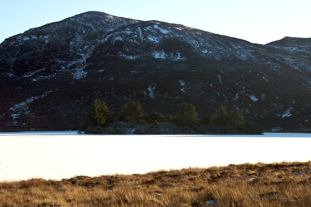 Frozen Lake in Co. Donegal