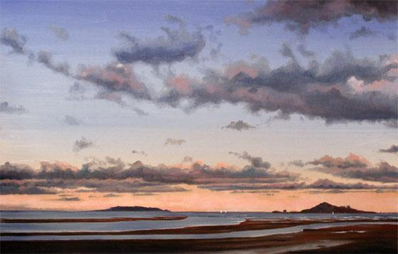 Oil Painting, Sutton Ireland's Eye and Lambay Island
