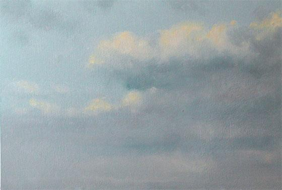 Oil Painting, Early Morning Clouds, Dublin