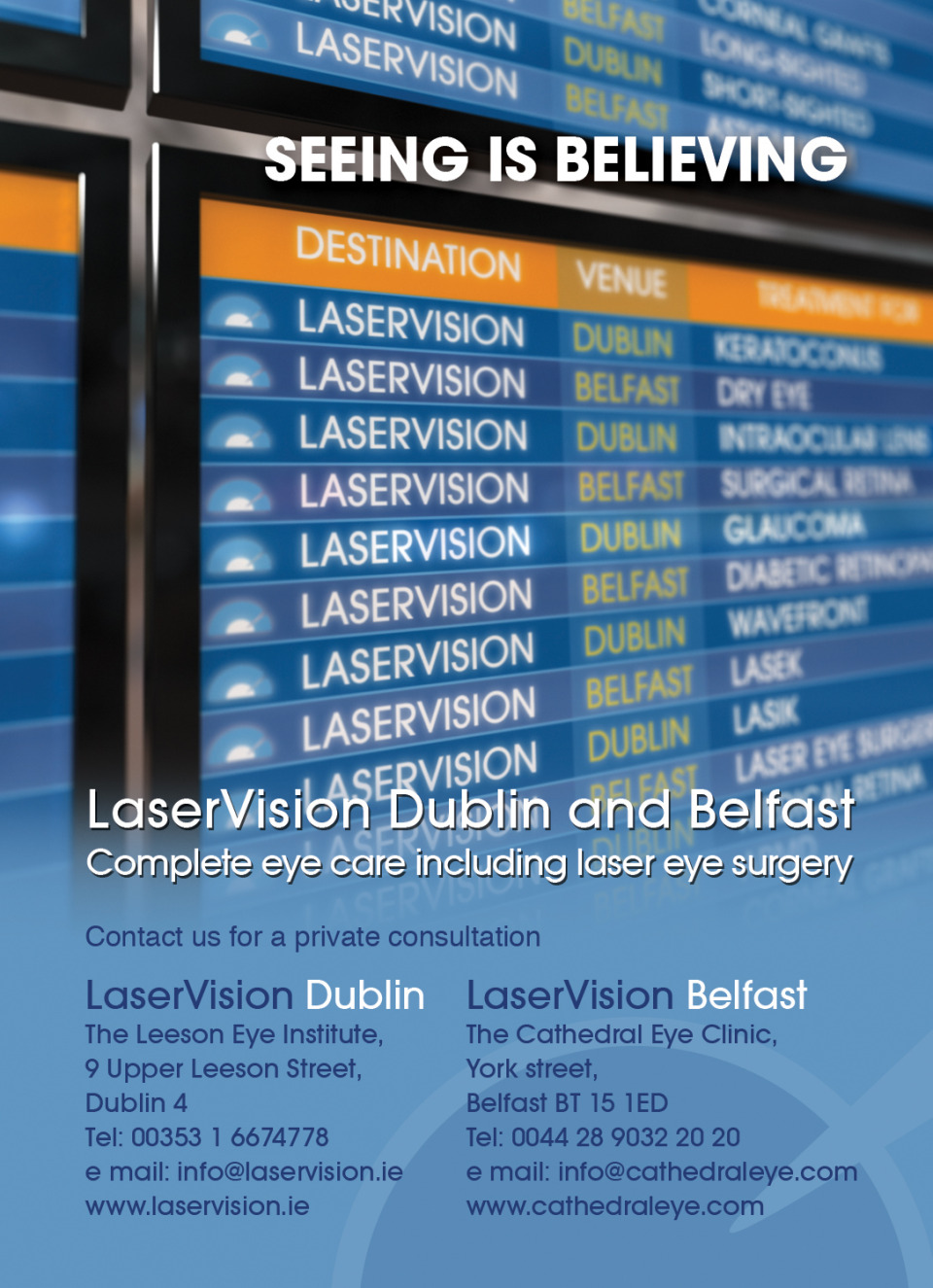 Aer Lingus Magazine Ad for LaserVision Dublin