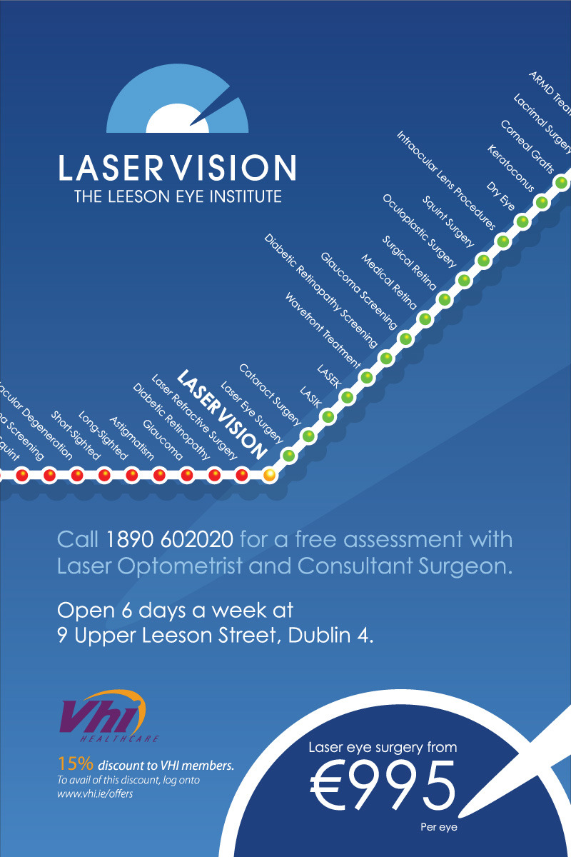 Dart 6 Sheet Ad for LaserVision Dublin