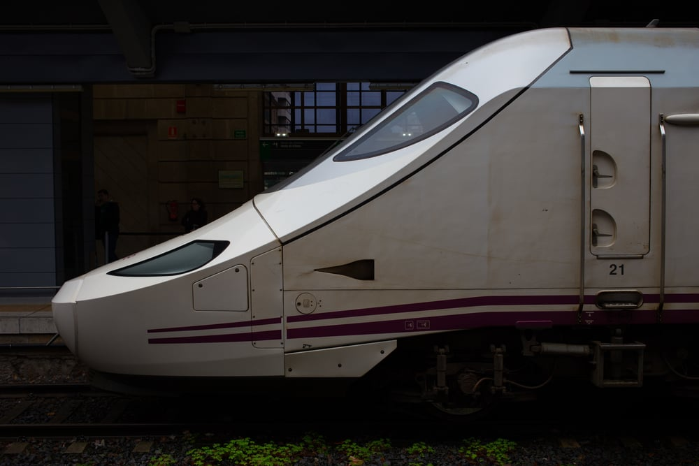 Fantastically comfortable high speed train.