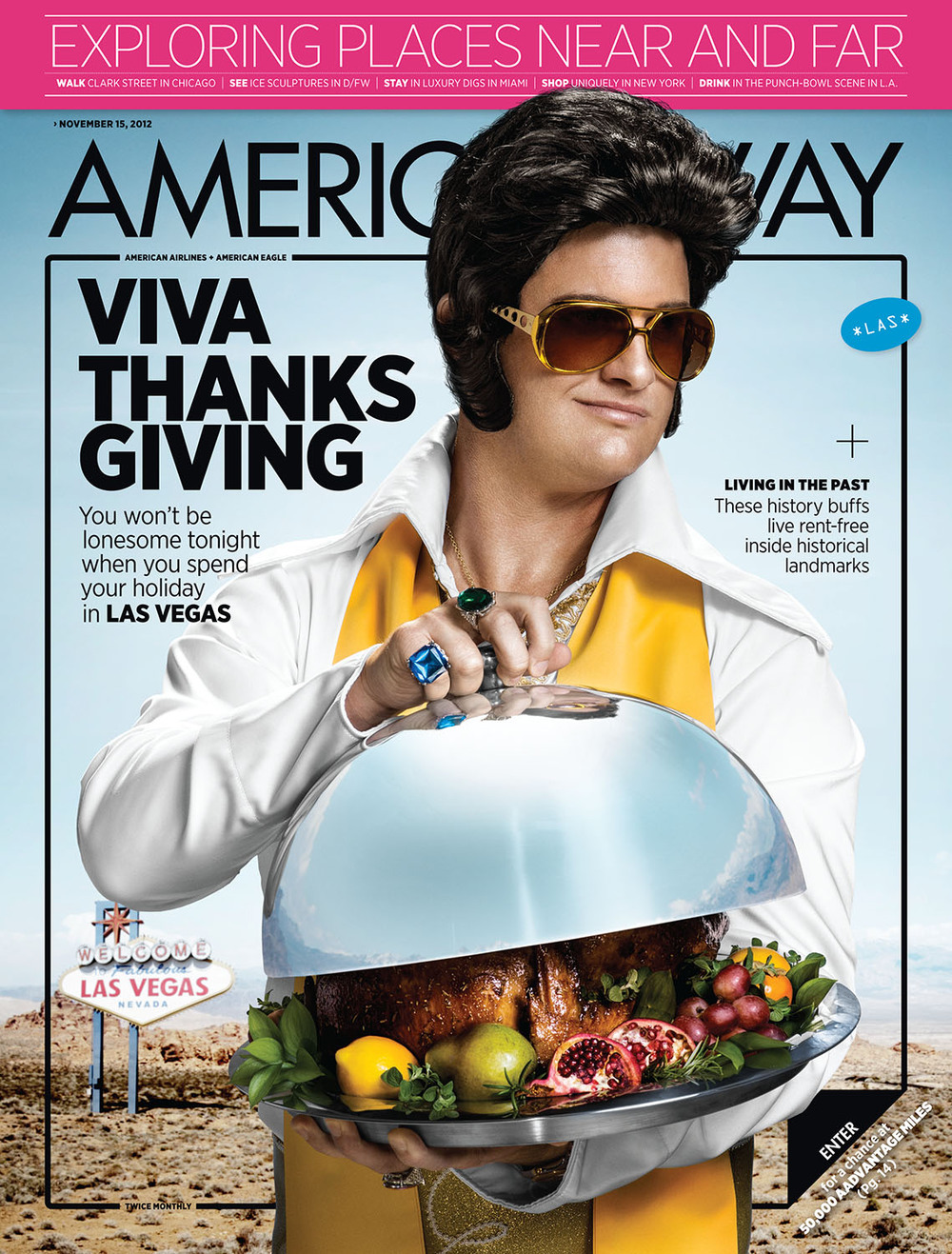 The cover from  American Way,  November 15, 2012