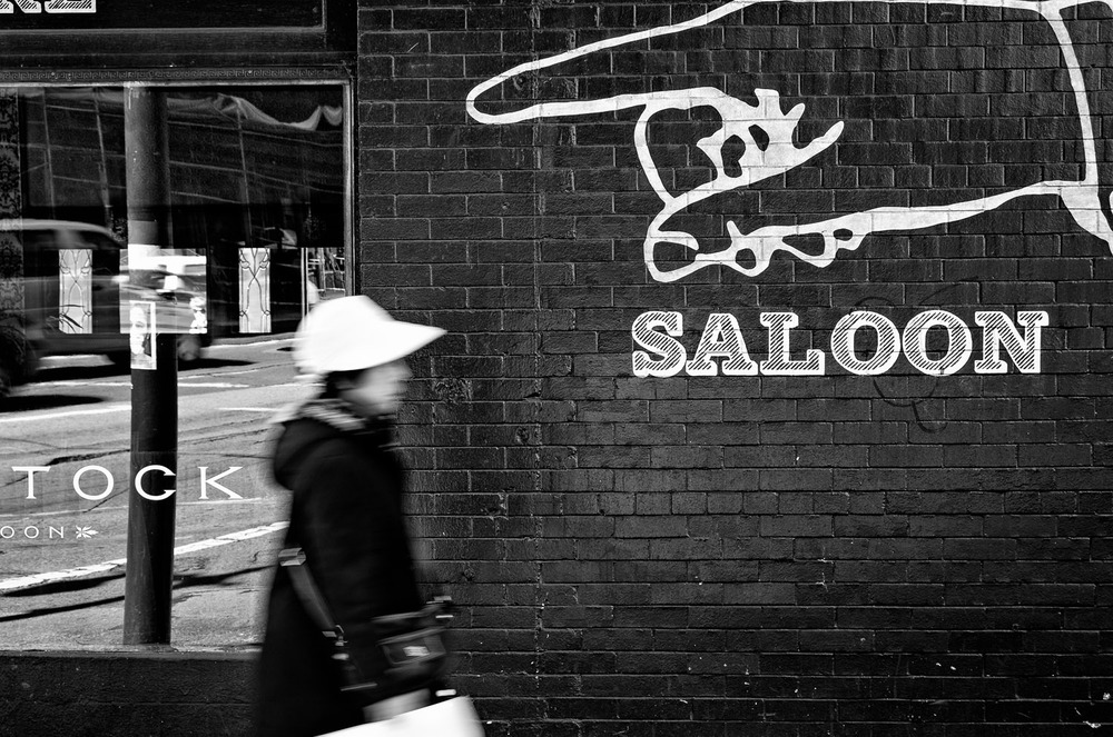 Woman and Sign, San Francisco | Mark Lindsay