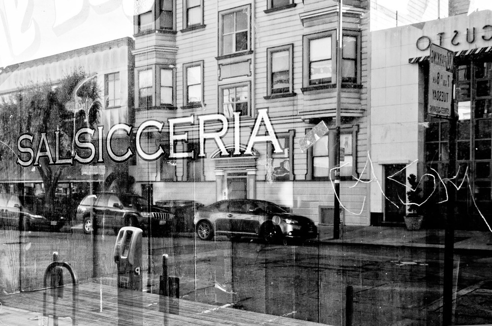 Reflections in a Salsicceria, San Francisco | Mark Lindsay